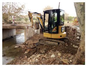 Comencen les obres de restauració del domini públic hidràulic afectat per les inundacions del Llevant de Mallorca