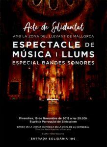 16/11/2018: Espectacle de música i llums, Binissalem