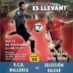 13/11/18: Partit Benèfic : RCD Mallorca vs Selecció Balear, Estadi Son  Moix