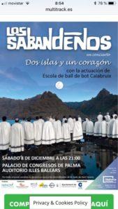8/12/18: Concert Los Sabandeños, Palau de congressos Palma